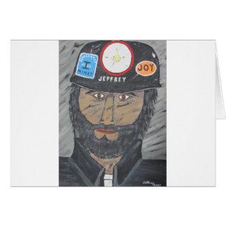Cartão O homem de carvão