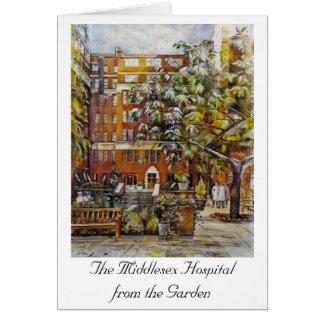 Cartão O hospital de Middlesex do jardim Notelet