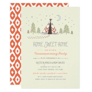 Cartão O Housewarming doce Home do Tipi convida