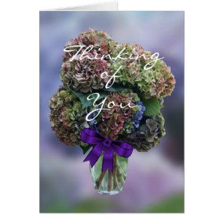 Cartão O Hydrangea 2385 no vaso personaliza toda a
