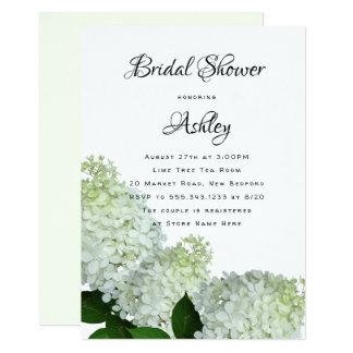 Cartão O Hydrangea floral verde pálido do chá de panela