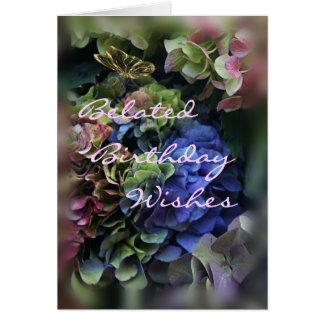 Cartão O hydrangea tardivo 5409 do aniversário