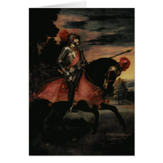 Cartão O imperador Charles V a cavalo