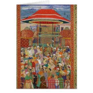 Cartão O imperador de acolhimento Jahangir da corte