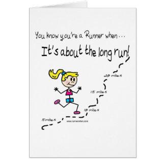Cartão O incentivo do corredor