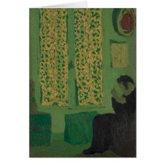 Cartão O interior verde
