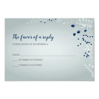 Cartão O inverno ramifica RSVP Wedding