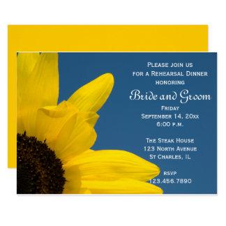 Cartão O jantar de ensaio do casamento do céu azul do