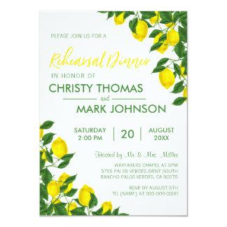 Cartão O jantar de ensaio do verão   do limão convida