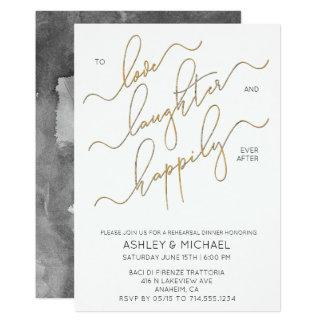 Cartão O jantar de ensaio preto do roteiro do ouro branco