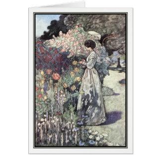 Cartão O jardim antiquado por Charles Robinson