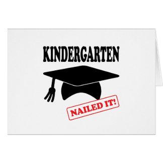 Cartão O jardim de infância pregou-o