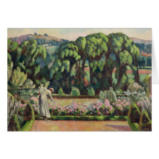 Cartão O jardim do artista em Durbins, c.1915 (o óleo