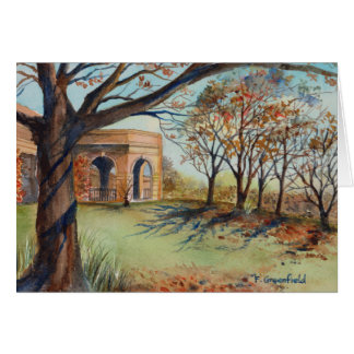 Cartão - o jardim Harrogate do vale