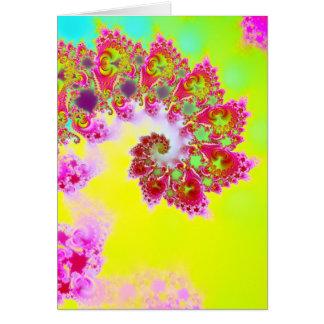 Cartão O jardim V de Emma · Arte do Fractal · Monção