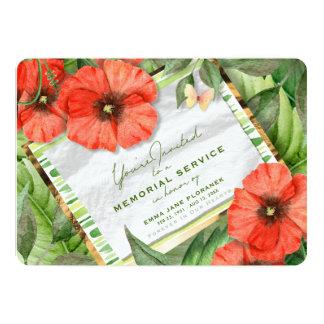 Cartão O jardim vermelho da papoila esverdeia a cerimonia