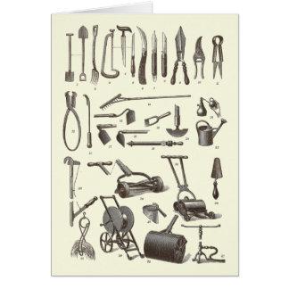 Cartão O jardineiro elegante - ferramentas de jardim