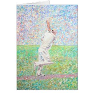 Cartão O jogador de cricket