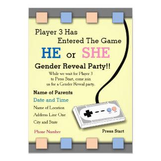 Cartão O jogador do Gamer um género de 3 chás de fraldas