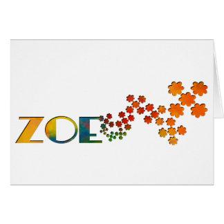 Cartão O jogo conhecido - Zoe
