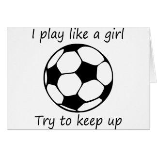 Cartão o jogo gosta de um girl3