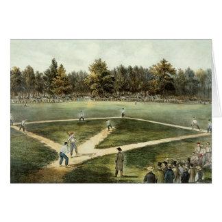 Cartão O jogo nacional americano do basebol
