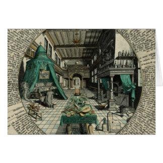 Cartão O laboratório do alquimista