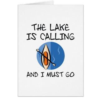 Cartão O lago está chamando
