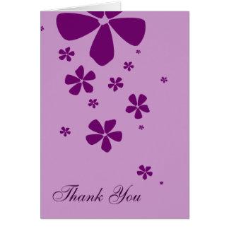 Cartão O Lilac floresce o obrigado simplesmente elegante
