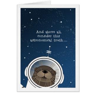 Cartão O Love>OTTER do deus ESTE MUNDO, astronauta da