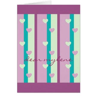 Cartão O malva roxo do verde da hortelã de turquesa