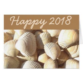 Cartão O mar 2018 do feliz ano novo descasca o verão