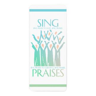 Cartão O marcador canta elogios ao coro do deus