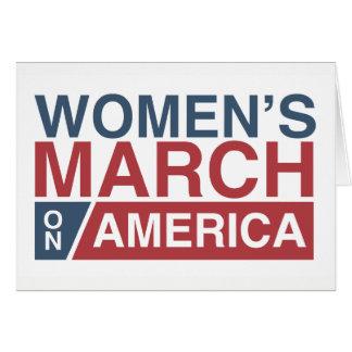 Cartão O março das mulheres em América