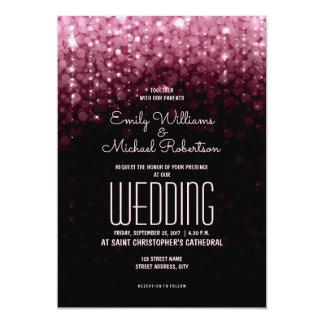 Cartão O marsala elegante do casamento ilumina o fundo do