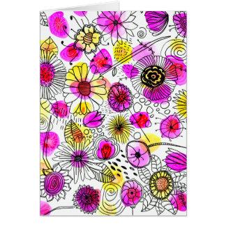 Cartão O material brilhante Notecard de cumprimento