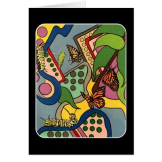 Cartão O meio século abstrai a pintura da fábrica da
