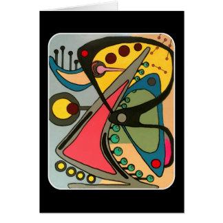Cartão O meio século abstrai a pintura de fala do homem