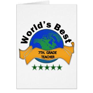 Cartão O melhor 7o do mundo. Professor da categoria