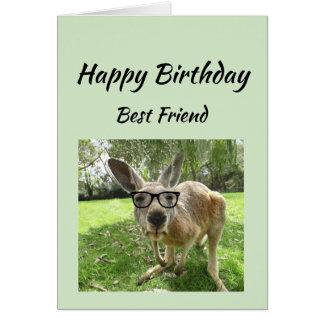 Cartão O melhor amigo do aniversário nunca encontra um