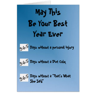Cartão O melhor ano nunca!