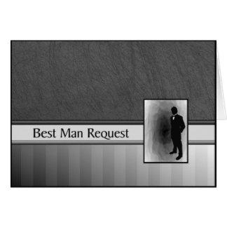 Cartão O melhor casamento do pedido do homem