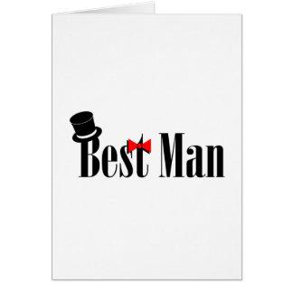 Cartão O melhor chapéu alto do homem