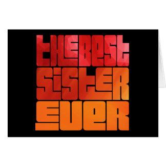 Cartão O melhor cumprimento sempre Funky da irmã