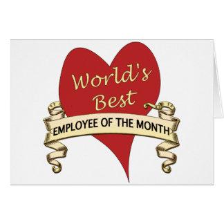 Cartão O melhor empregado do mundo do mês