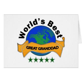 Cartão O melhor grande avô do mundo