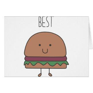 Cartão o melhor Hamburger