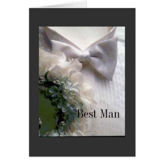 Cartão O melhor homem