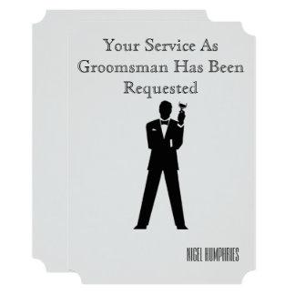 Cartão O melhor homem ou padrinho de casamento convidam