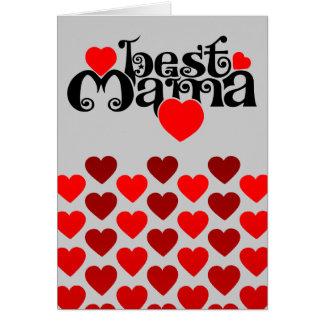 Cartão O melhor Mama
